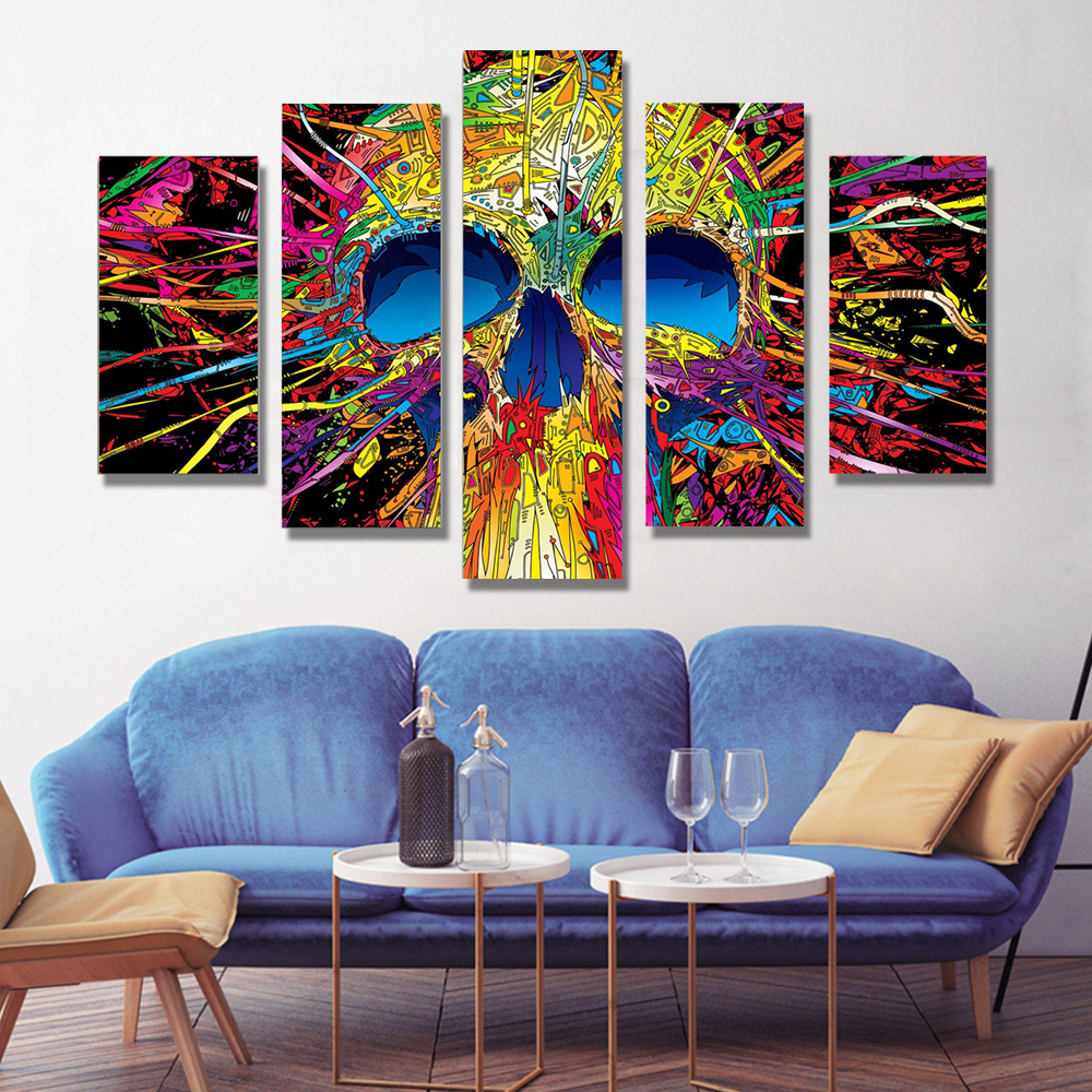 Unframed HD Canvas Prints Skull Giclee Wall Decor Prints Wall Pictures For Living Room Wall Art Decoration Dropshipping