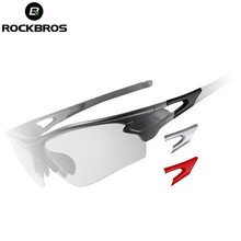ROCKBROS Polarized Cycling Glasses Bike Glasses Outdoor Sports Fishing Sunglasses Goggles Eyewear Color Change Frame