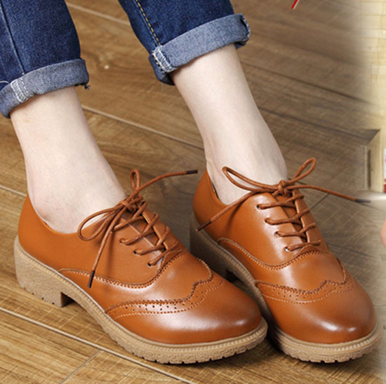 89dd0c6e90635 fashion women flat shoes comfortable work office career lace up ...