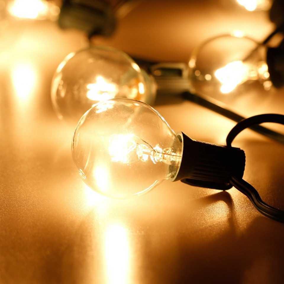 3 м 7,5 м G40 Глобус лампы уличная Рождественская гирлянда с мяч для очищения лампы висячий зонтик Рождественские огни Крытый светодиодный свадебный свет