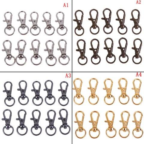 New 10Pcs/lot Metal Swivel Trigger Lobster Clasp Snap Hook Key Chain Ring Paracord Lanyard DIY Craft Backpack Bag — stackexchange