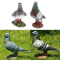 2 Pack Decorative Simulation Bird Figurine Lifelike Bird Sculpture Statue Garden Ornaments