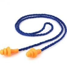 10 штук Мягкие силиконовые, со шнуром уха Вилки уши протектор Многоразовые Защиты Слуха Шум наушник с Вилки наушник
