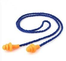 10 pièces en Silicone souple bouchons doreille avec cordon oreilles protecteur réutilisable Protection auditive réduction du bruit bouchons doreille casque antibruit