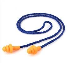 10 個のソフトシリコンコード付き耳は耳プロテクター再利用可能な聴覚保護ノイズリダクション耳栓耳あて