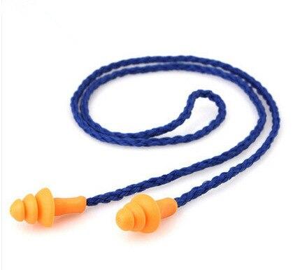 10Pcs רך סיליקון פתול אוזן אטמי אוזני מגן לשימוש חוזר שמיעה הגנת רעש הפחתת אטמי אוזניים Earmuff