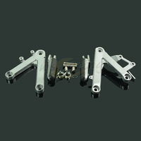 Motorcycle Footrests Front Foot Pegs Pedals Rest Footpegs For HONDA CBR250 MC22 1990 1997 90 91 92 93 94 95 96 97