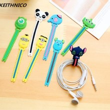 Wire-Management-Holder Usb-Cord-Organizer Cartoon-Cable Ties Mouse-Line Earphone Charging