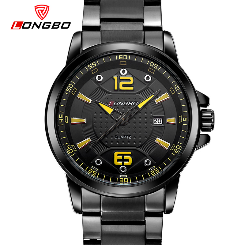 LONGBO unique dial design business watch men luxury stainless steel quartz watch waterproof dress reloj hombre gift 80212 the comical world of stratford фигурка лягушка баскетболист бонд