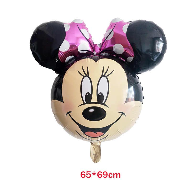 12 шт. Микки Минни Маус 18 дюймов звезда гелиевая фольга Воздушные шары Счастливые воздушные шары для украшения праздников BabyShower 1th День рождения globos