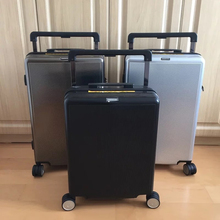 Spinner-Brand Trolley Luggage Travel-Suitcase Carry-On Women PC Abroad Big-Lever Exquisite
