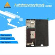 Dla oneplus trzy oneplus 3 A3000 A3003 UE wersja Axisinternational wyświetlacz + ekran dotykowy LCD digitizer z ramką biały/czarny