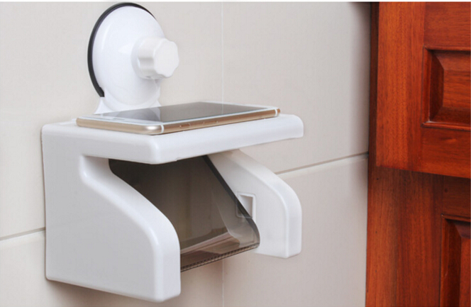 ФОТО fashion white ABS bathroom paper holder with shelf bathroom Mobile phones towel rack toilet paper holder
