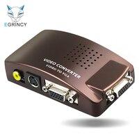 EGRINCY AV BNC To VGA Video Converter BNC S Video Input To VGA Analog Signal Switch