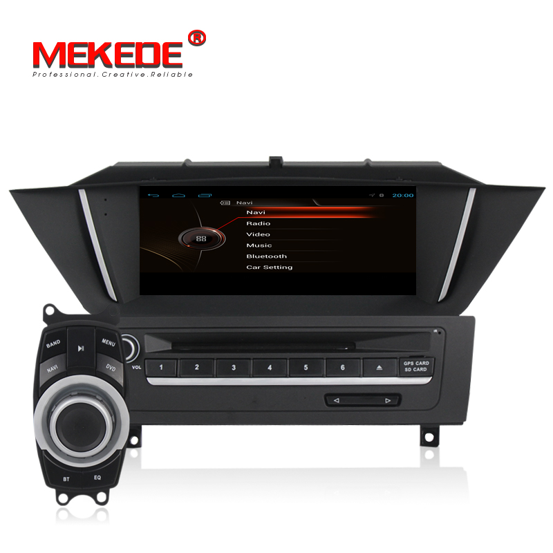 MEKEDE Android Smart car gps navigation multimedia dvd player for BMW X1 E84 2009 2010 2011 2012 audio vedio including canbus image