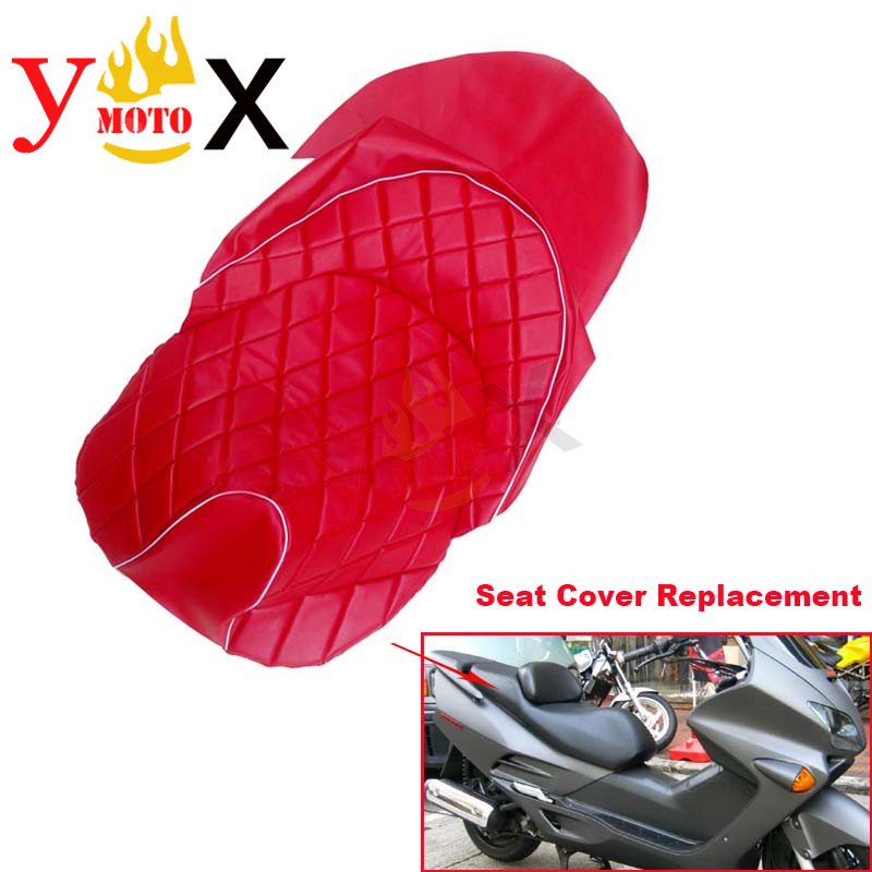 Replacement Modified Red Pu Leather Scooter Bike Motorcycle Seat
