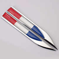Car styling Flag shaped fender side metal blade car sticker car accessories for DS DS4S DS5 DS5LS DS6 DS7