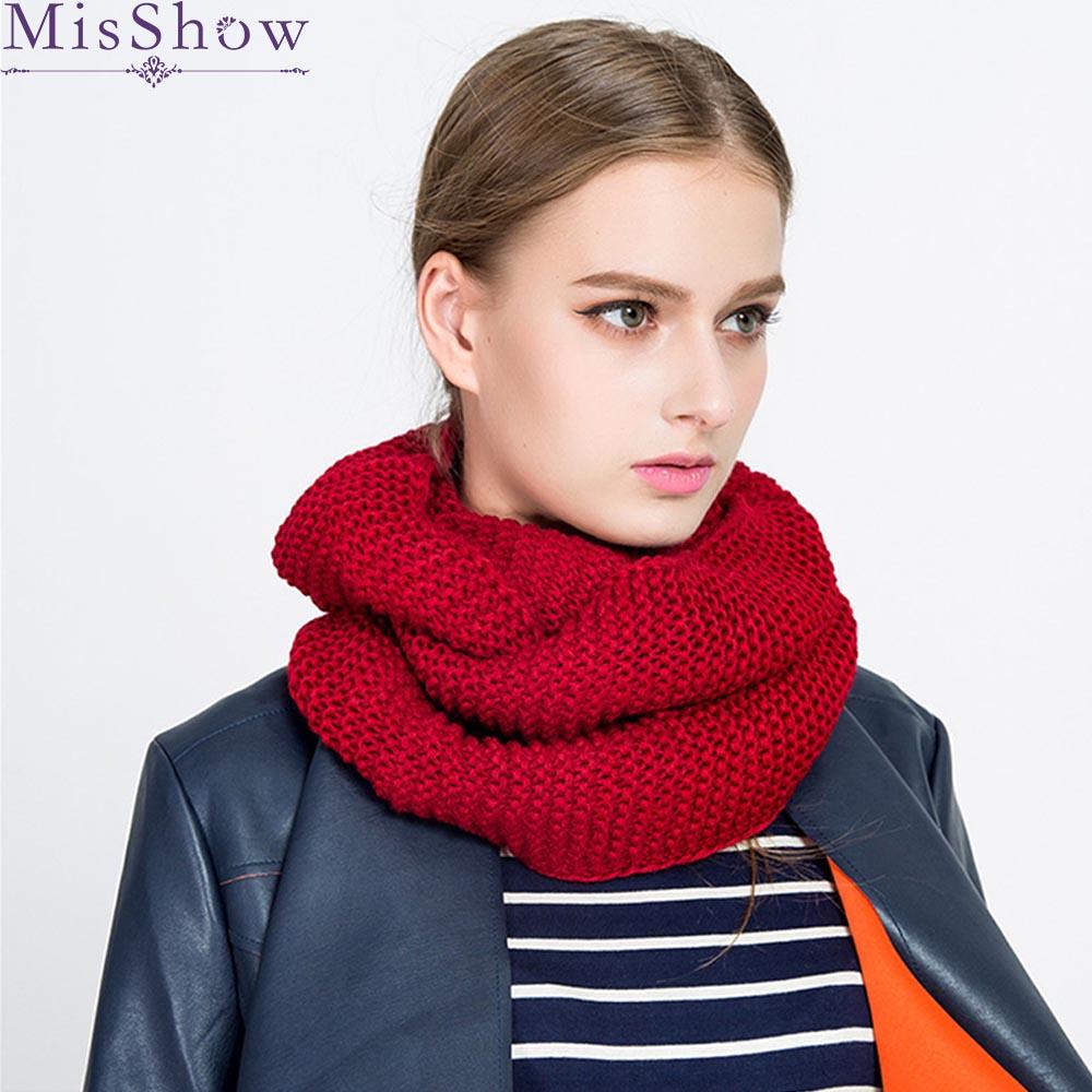 c5e8c370 Otoño Invierno 2019 nuevas bufandas de punto cálido anillo infinito bufanda  para mujeres Casual de ...