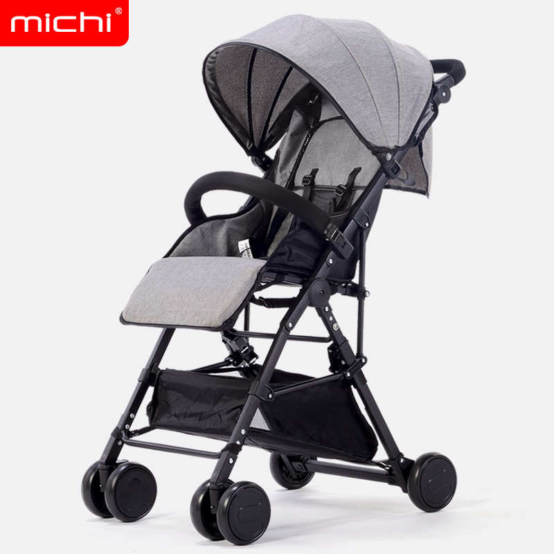 Baby stroller ultra light portable can sit folding high landscape baby stroller bb hand push umbrella car