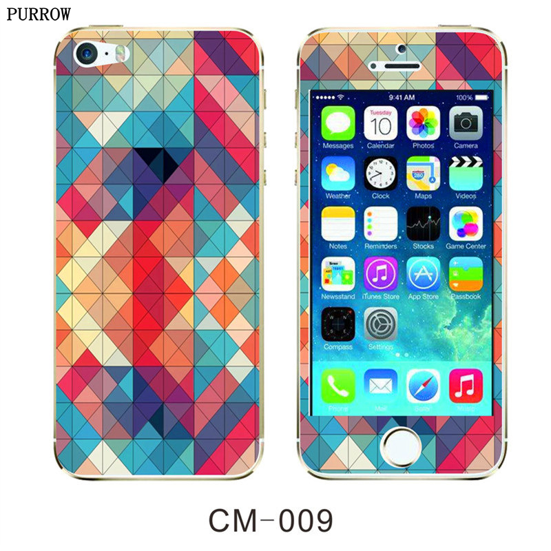 Front + Back 9H HD Fashion Colorful Cartoon Bling Glitter Tempered Glass Protect