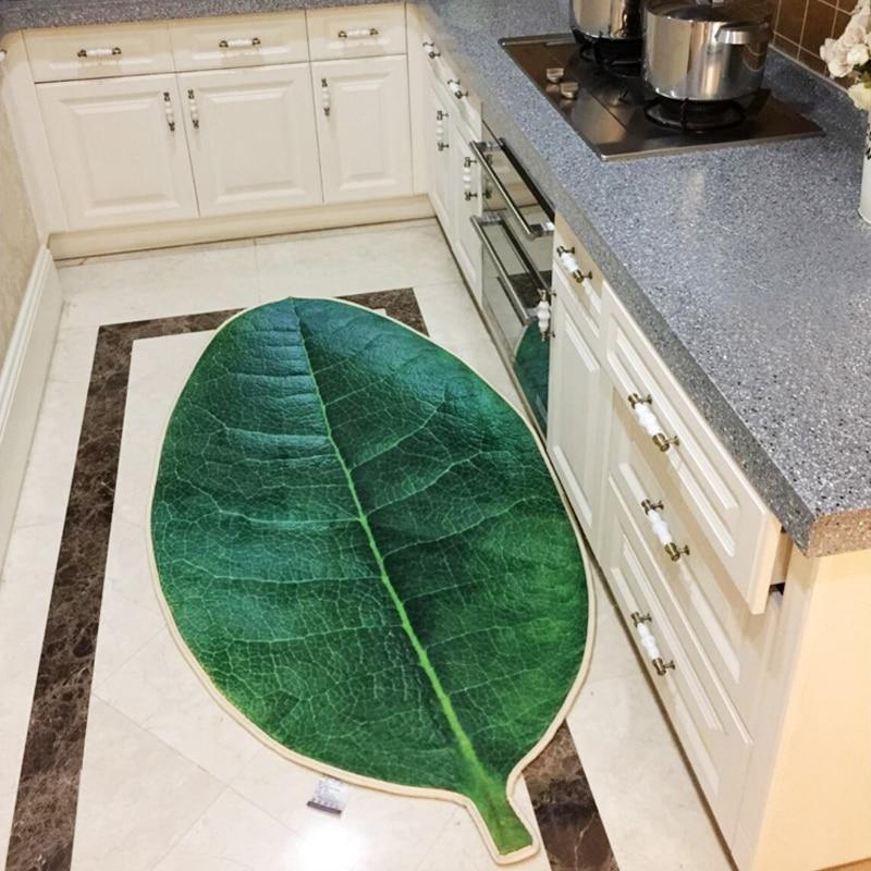 3D Myrica rubra hoja alfombra hoja forma verde microfibra Alfombras ...