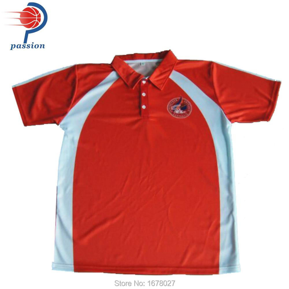 b1e445bf Red and White Polo Shirts For Cricket Teams with Custom Patterns -in  Trainning & Exercise Polo from Sports & Entertainment on Aliexpress.com |  Alibaba Group