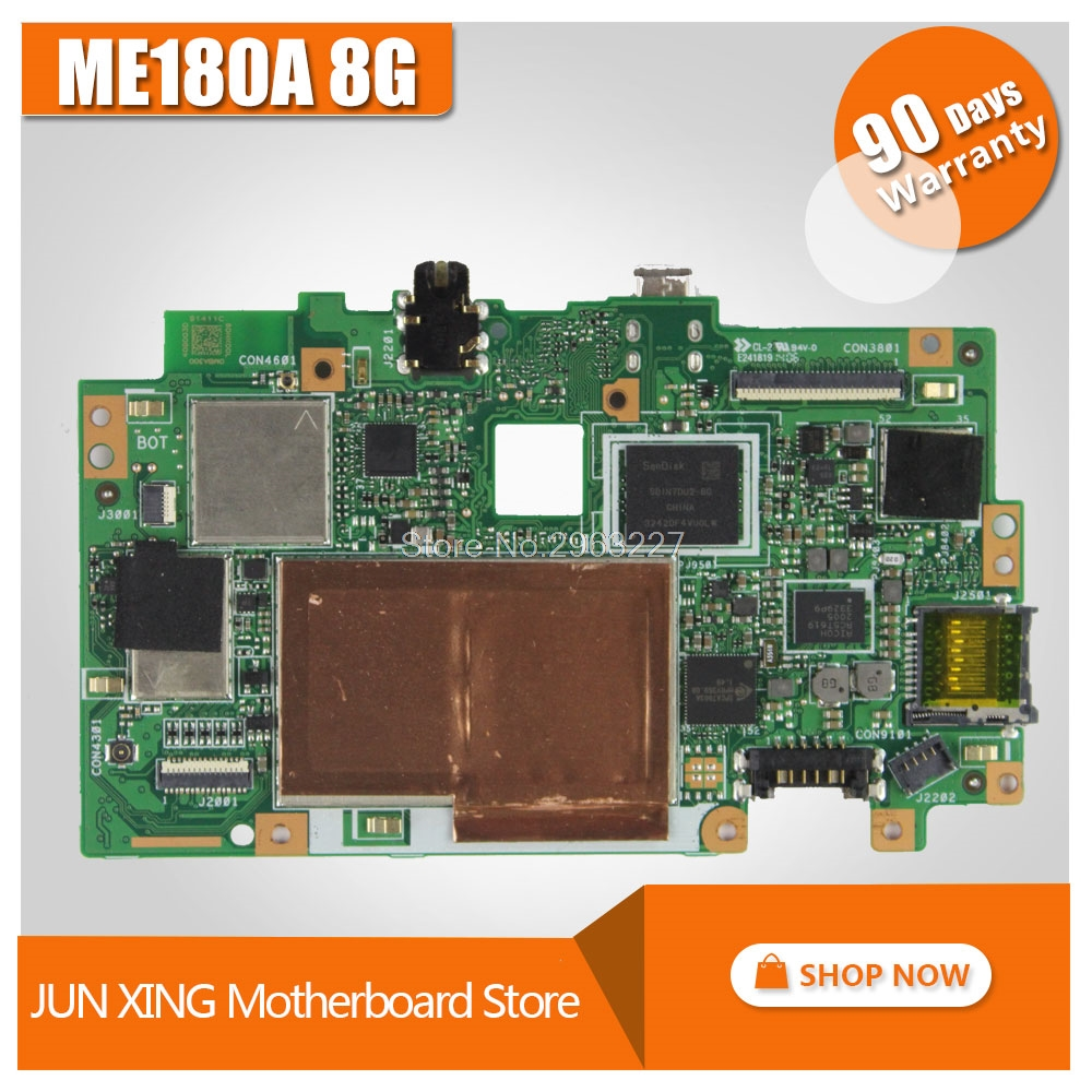 Original Mainboard for Asus MeMO Pad 8 ME180A 8G ME180 tablet computer PC motherboard 100% test new 8 inch tablet case for asus memo pad 8 me180 me180a digitizer touch screen with lcd display assembly frame free shipping