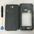 Оригинал Ближний Рамка Рамка + Крышка Батарейного Отсека Для Samsung Galaxy примечание 2 II N7100 Розовый Жилищного Замена Части Случаев + инструменты