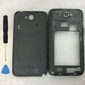 Original Middle Frame Bezel + Battery Cover For Samsung Galaxy Note 2 II N7100 Pink Housing Replacement Parts Cases + Tools