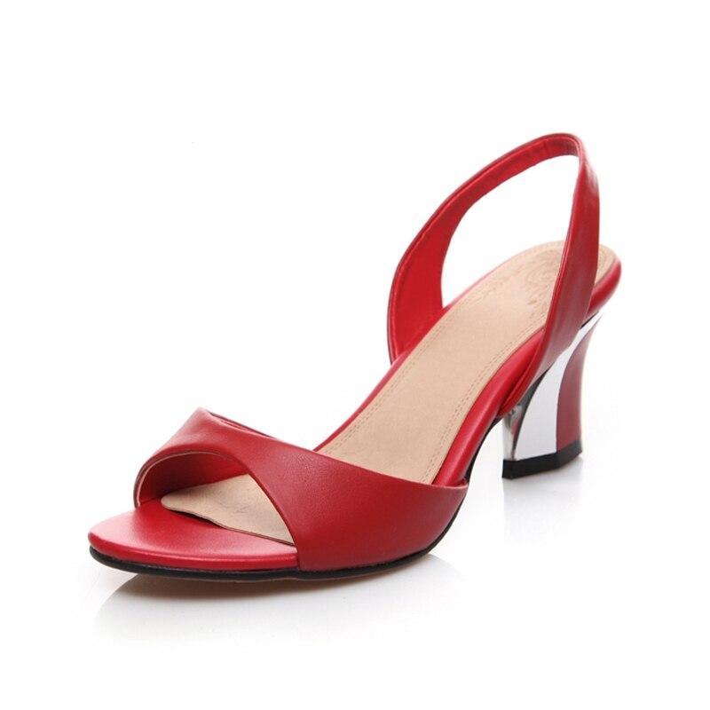 KARINLUNA 2018 ขนาดใหญ่ 33 44 หนัง Slip บนรองเท้าแฟชั่น Med รองเท้าส้นสูงงานแต่งงานรองเท้าแตะผู้หญิง-ใน รองเท้าส้นสูงปานกลาง จาก รองเท้า บน AliExpress - 11.11_สิบเอ็ด สิบเอ็ดวันคนโสด 1