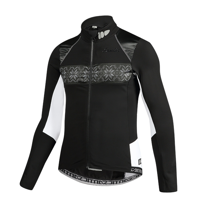 Sanitc Winter Bike Clothing Windproof Fleece Coat Thermal Bicycle Keeping Warm Ropa Ciclismo Jacket Bicycle Cycling Jacket Men arsuxeo warm up fleece thermal cycling bike bicycle jersey winter windproof long sleeve jacket men s outdoor sports clothing