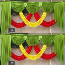 140 length Ice silk wedding backdrop swags colorful drapery curtain swag for event party decoration