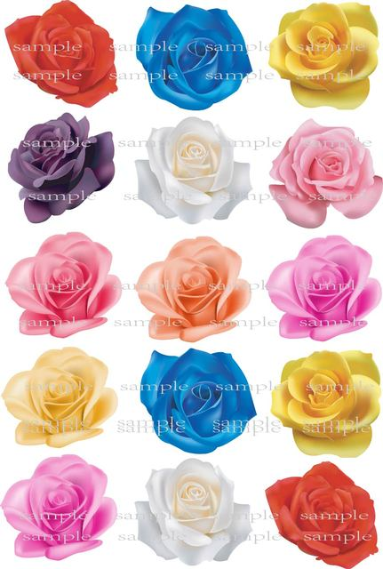 Us 8 99 40 Off 15 Big Real Rose Edible Cake Topper Wafer Rice Paper For Wedding Cake Decoration Cupcake Cookie Topper Birthday Party Decor Gift In