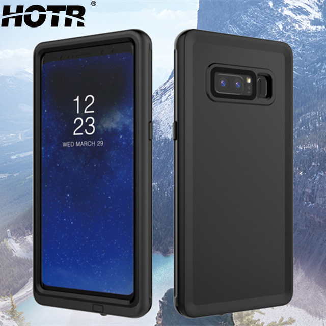 uk availability 4b479 038aa US $10.69 42% OFF|HOTR Note 8 Waterproof Case for Samsung Galaxy Note 8  Watertight Case Swimming Full Protect Pouch Bag Underwater 3m for 24  hours-in ...