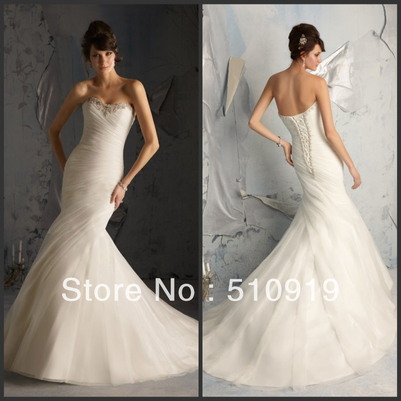 Simple But Elegant Wedding Dress: Free Shipping Newest Off Shoulder Crystal Beaded Pleat