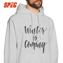Game Of Thrones Hoodies Winter Is Coming House Stark Men Hooded Sweatshirts Funny 100% Cotton Autumn Hooded Tops цена и фото