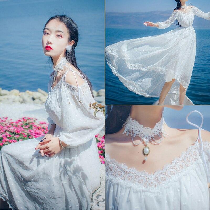 2019 Plage Pour Tenue Robes Vintage D'été Blanc Élégant Robe Zt1861 De Coréenne Fiesta Femmes White Fête Vêtements uPZOTkXi