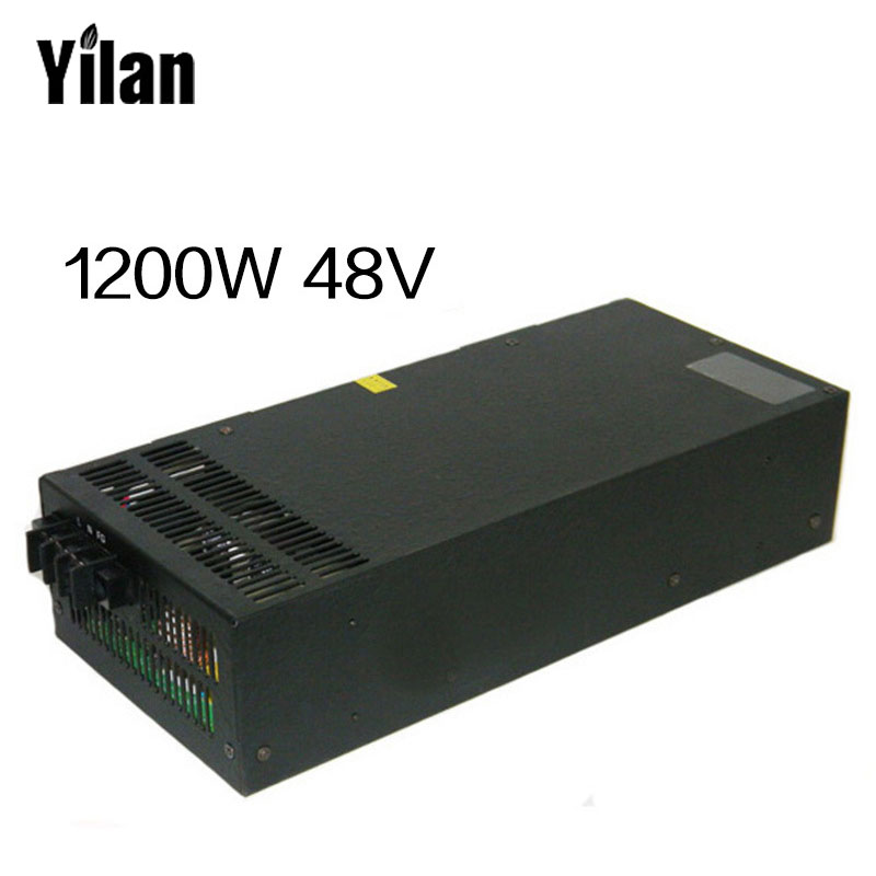1200W 48V adjustable 220V input Single Output Switching power supply for LED Strip light AC to DC allishop 300w 48v 6 25a single output ac 110v 220v to dc 48v switching power supply unit for led strip light free shipping