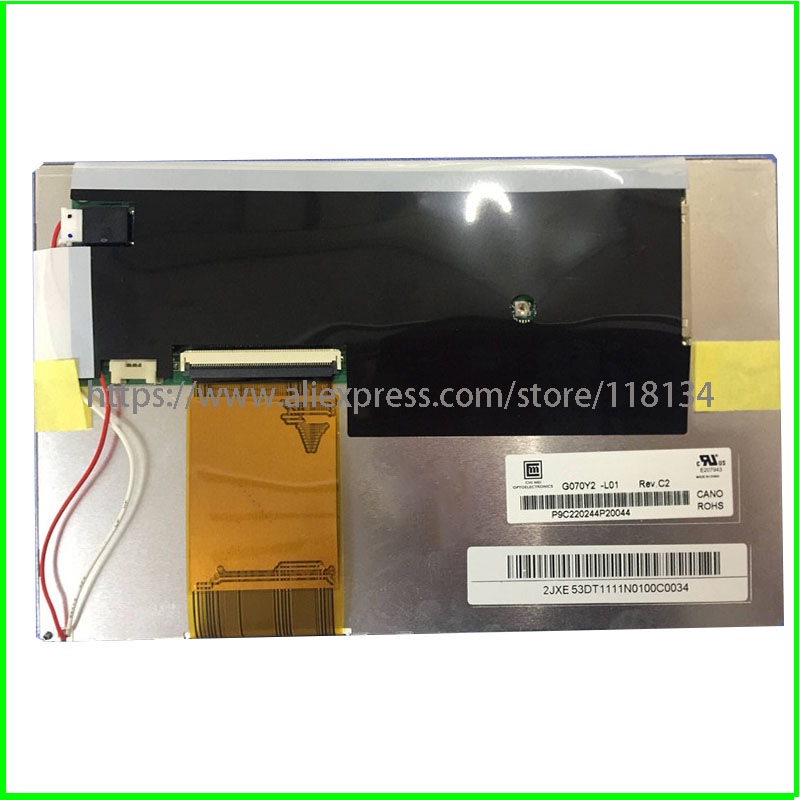 Original A+ 7 inch G070Y2 L01 lcd screen Car GPS DVD navigation display lcd screen Touch screen digitizer panel