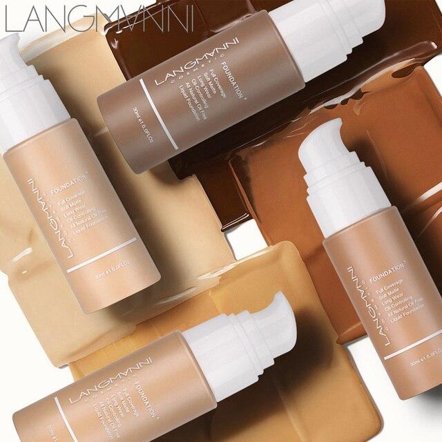 Primer 30ml Liquid Foundation Concealer Full Cover Oil Control Eye Dark Circles Coverage Long Lasting Face Body Base Cream