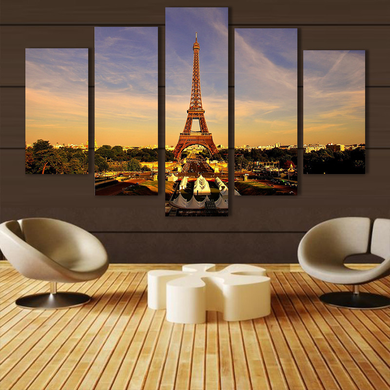 Modern Home Decor Eiffel Tower Wall Art Picture Print Painting On Canvas  For Living Room Bedroom Wall Decor Print Art /PT0471 In Painting U0026  Calligraphy From ...