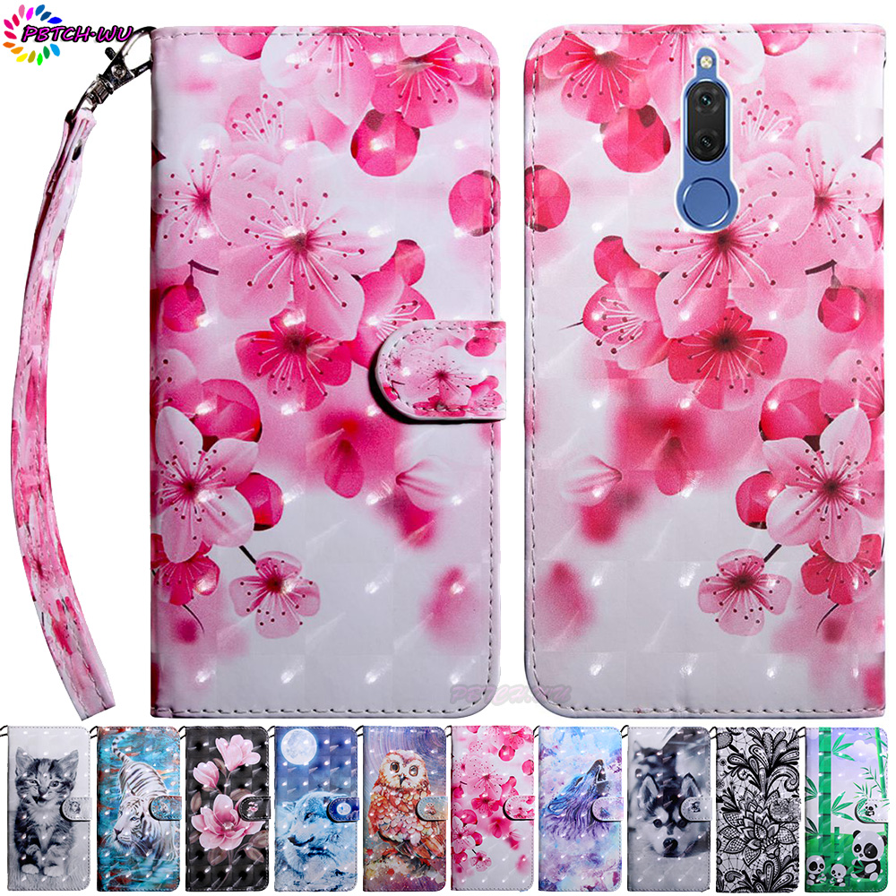 Phone Case For Huawei Mate 10 Lite RNE-L21 RNE-L01 Flip Wallet Cover Nova 2i RNE-L03 RNE-L23 Nova2i 3D Painted TPU Silicone Box