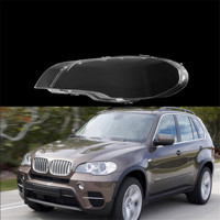 Left /Right Side Headlight Cover Plastic Clear Transparent Housing Lens Shell Lamp Assembly Lampshade for BMW 2008 2013 X5 E70