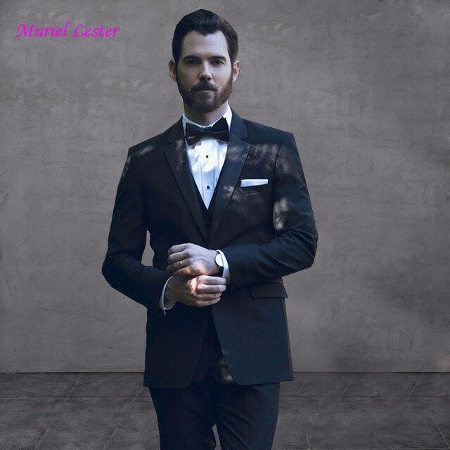 b4ea4b7a1bd6e8 S46 2018 Men Business Suit ,Slim fit Classic Male Suits Blazers Luxury Suit  Men One Button 3 Pieces Jacket+vest+pants Set suits