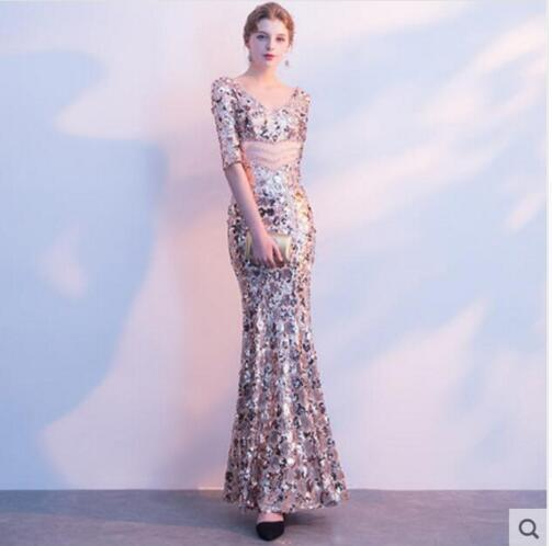 Birthday Party Celebrate Vintage Dress Nightclub Sexy Costume Female Singer  Show Bar Dress Sparkly Sequins Long Dress Women s f07737ba4cbd