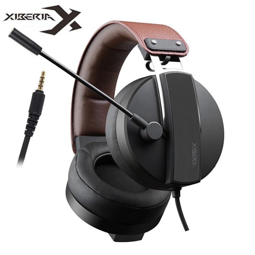 XIBERIA Best PS4 Gaming Auricolare casque 3.5 millimetri PC Gamer Stereo  Cuffie con Microfono per Xbox 439e237fa707
