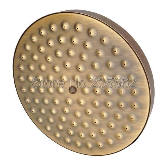 Juego de grifería de ducha de lluvia clásica de baño, juego de grifo de latón antiguo, mango de cerámica doble, grifos mezcladores de ducha lan109 - 6