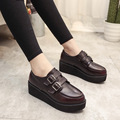 2017 Oxfords Shoes for Women Platform Print Lace Up Creepers Women's Oxfords Shoes Casual Ladies Flats Shoes Loafers 5.5 cm