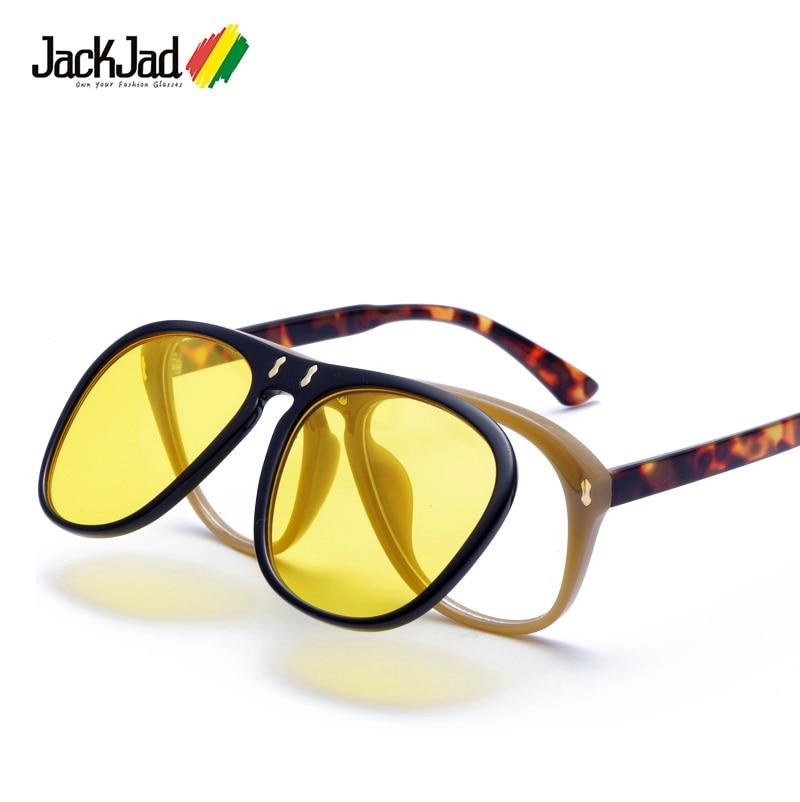JackJad 2018 New Fashion McQregor Aviator Style Flip Up Sunglasses Unisex Vintage Brand Design Sun Glasses Oculos De Sol 33109