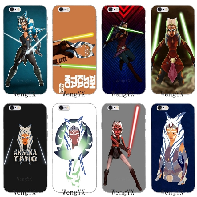 pretty nice d8d02 0de2f US $1.89 5% OFF|movie star wars Ahsoka Tano Slim silicone Soft phone case  For Samsung Galaxy J1 J2 J3 J5 J7 A3 A5 A7 2015 2016 2017 Core Grand-in ...